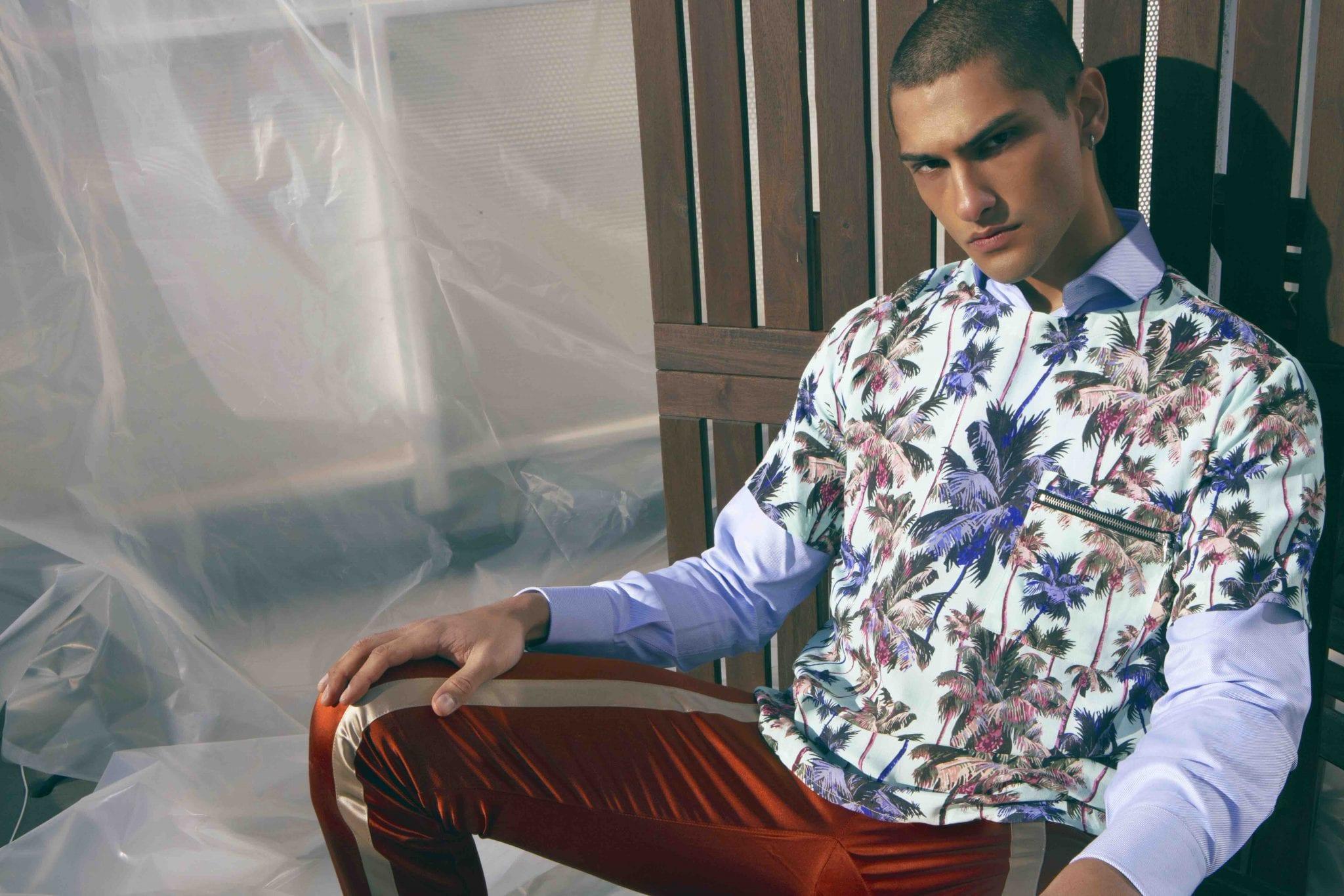 Georgette T-Shirt and Trousers Christian Pellizzari, shirt Caporiccio