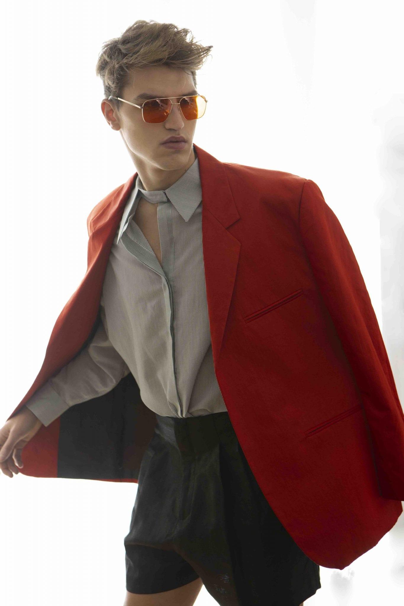 Total look Calcaterra, sunglasses Moscot