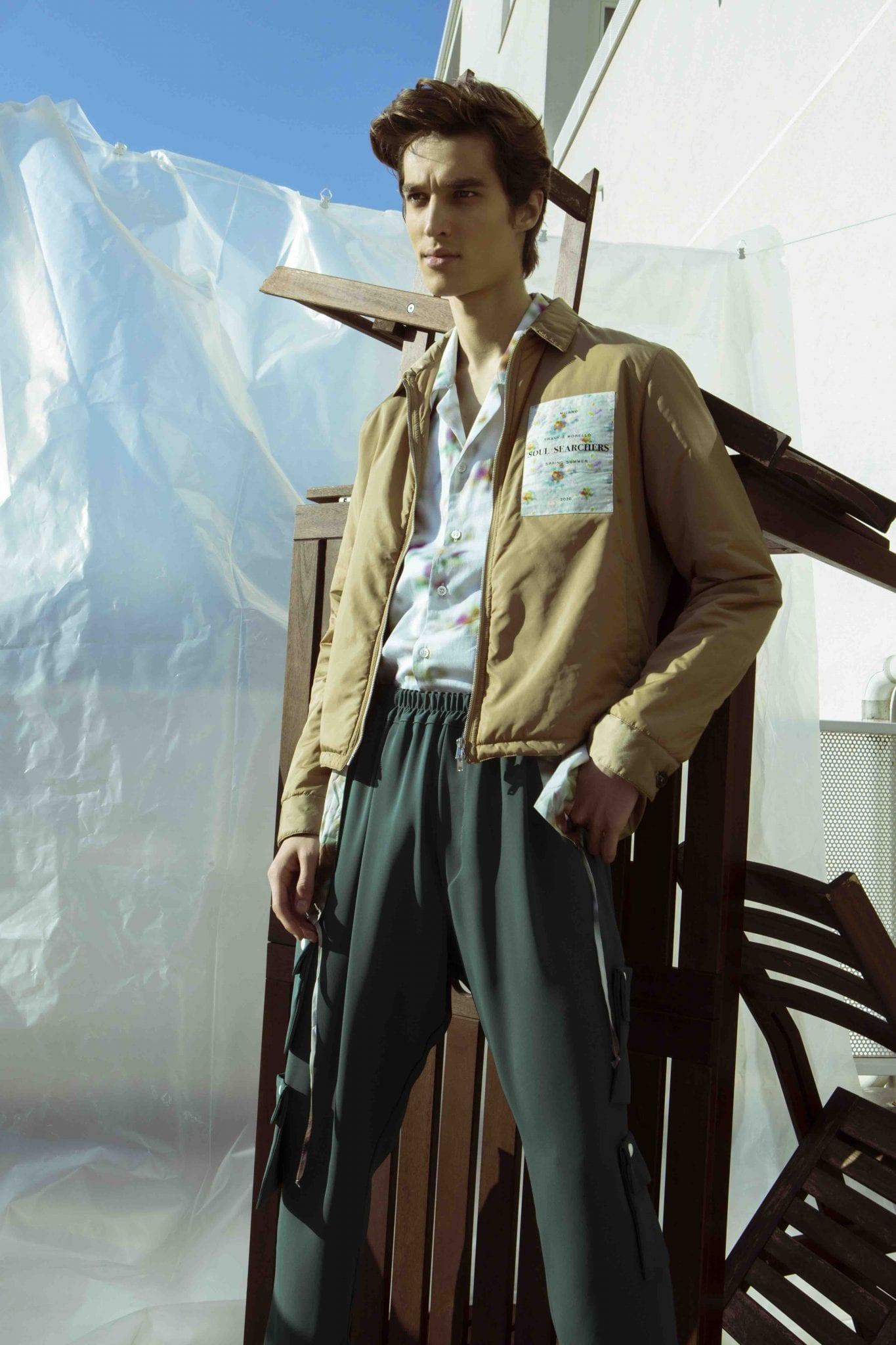 Bomber e shirt Frankie Morello, trousers Skill_officine
