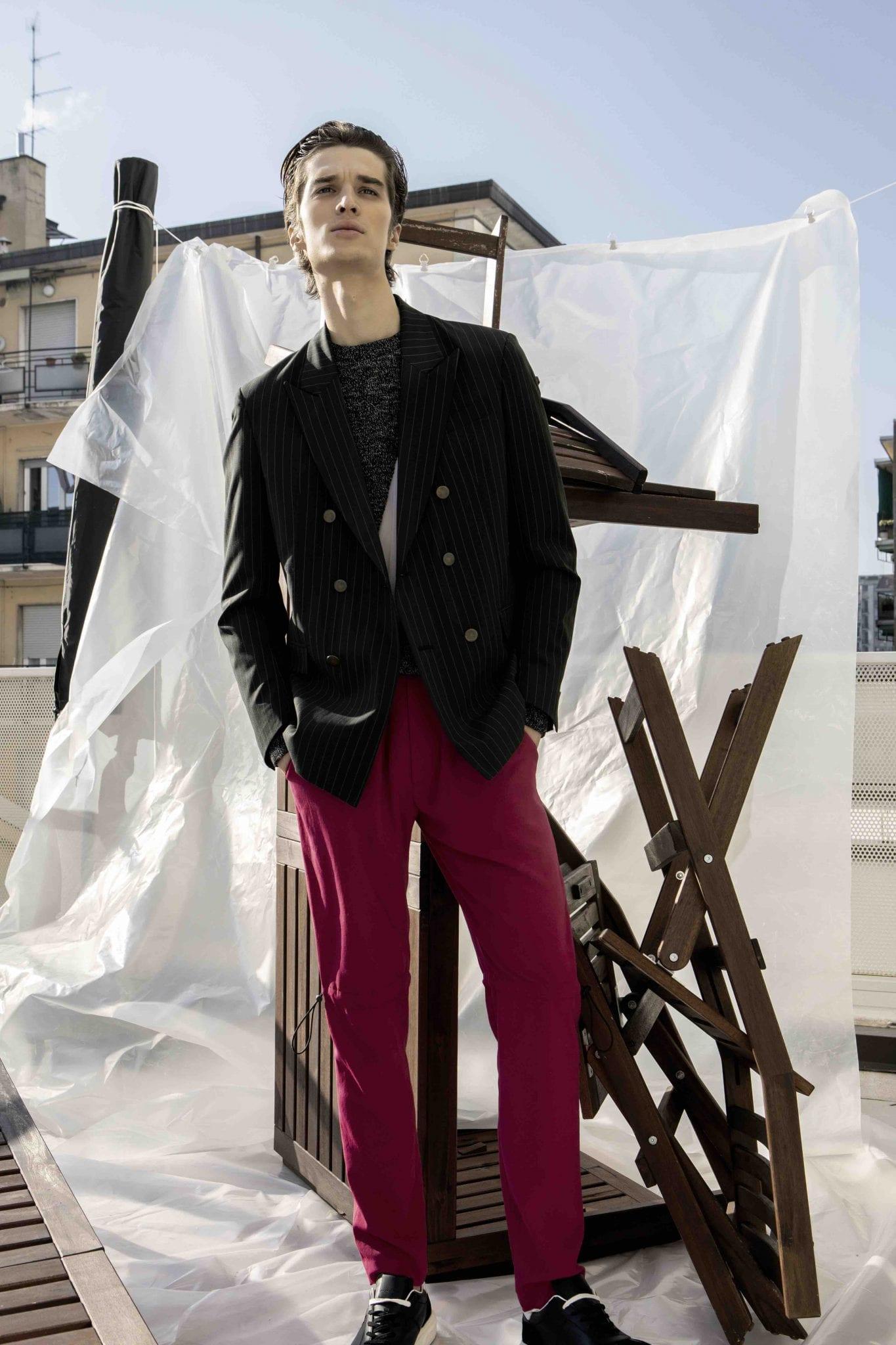 Jacket Marsem, pull Agelos Frentzos, trousers Edithmarcel, shoes Les Hommes