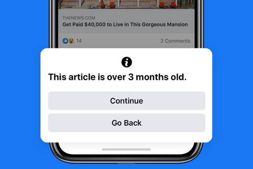Facebook will alert you when sharing old news