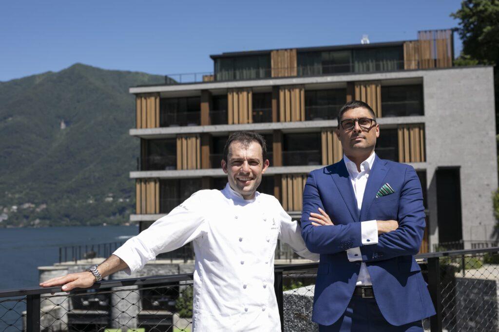 Raffaele Lenzi e Stefano Gaiofatto: chef e manager del ristorante stellato Berton Al Lago