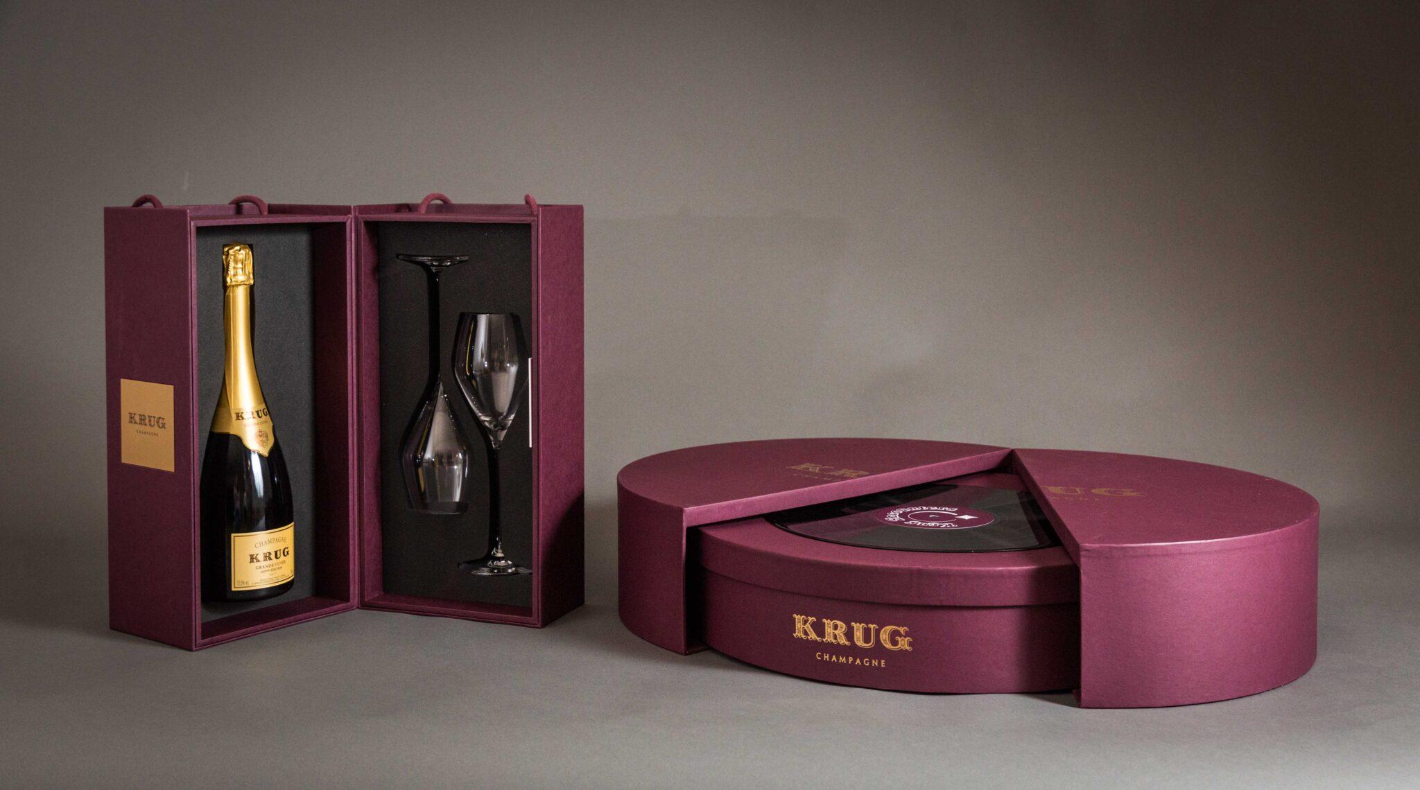 Cofanetto dedicato all'esperienza Encounters: degustazione musicale dello Champagne Krug Grande Cuvée 169 èmè Édition