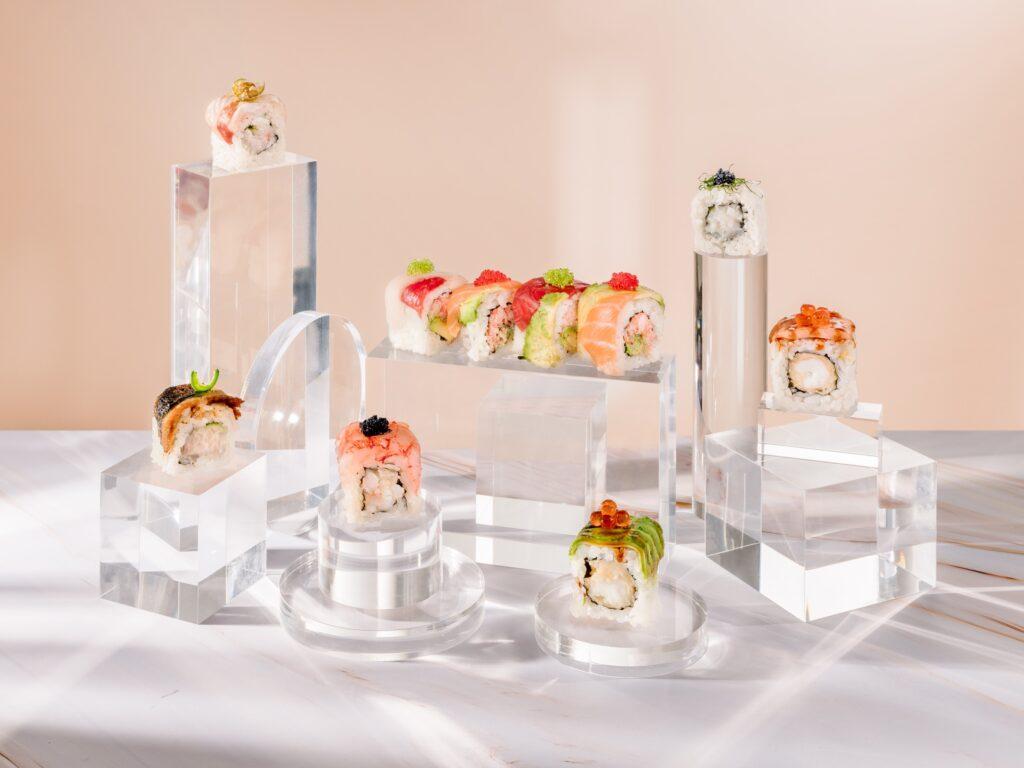 Una selezione degli uramaki di Armonico Sushi Culture