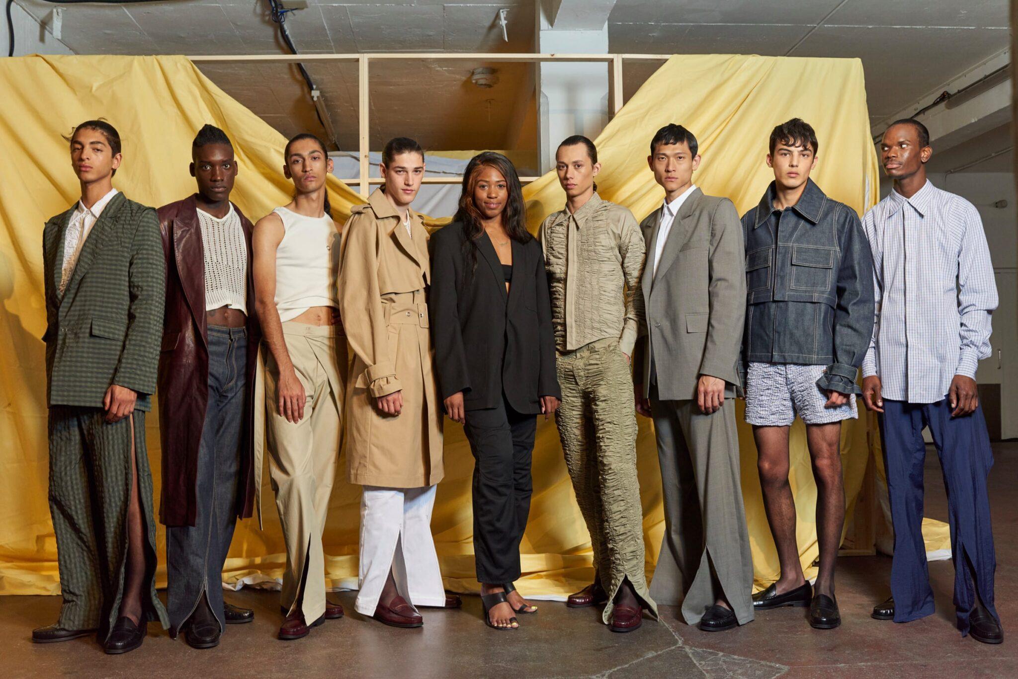 Il menswear romantico e delicato di Bianca Saunders, neovincitrice dell'Andam Fashion Award 2021