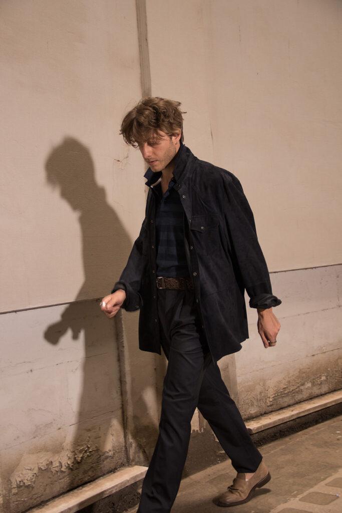 Michele Ragno in uno degli scatti realizzati per l'intervista esclusiva con Man In Town