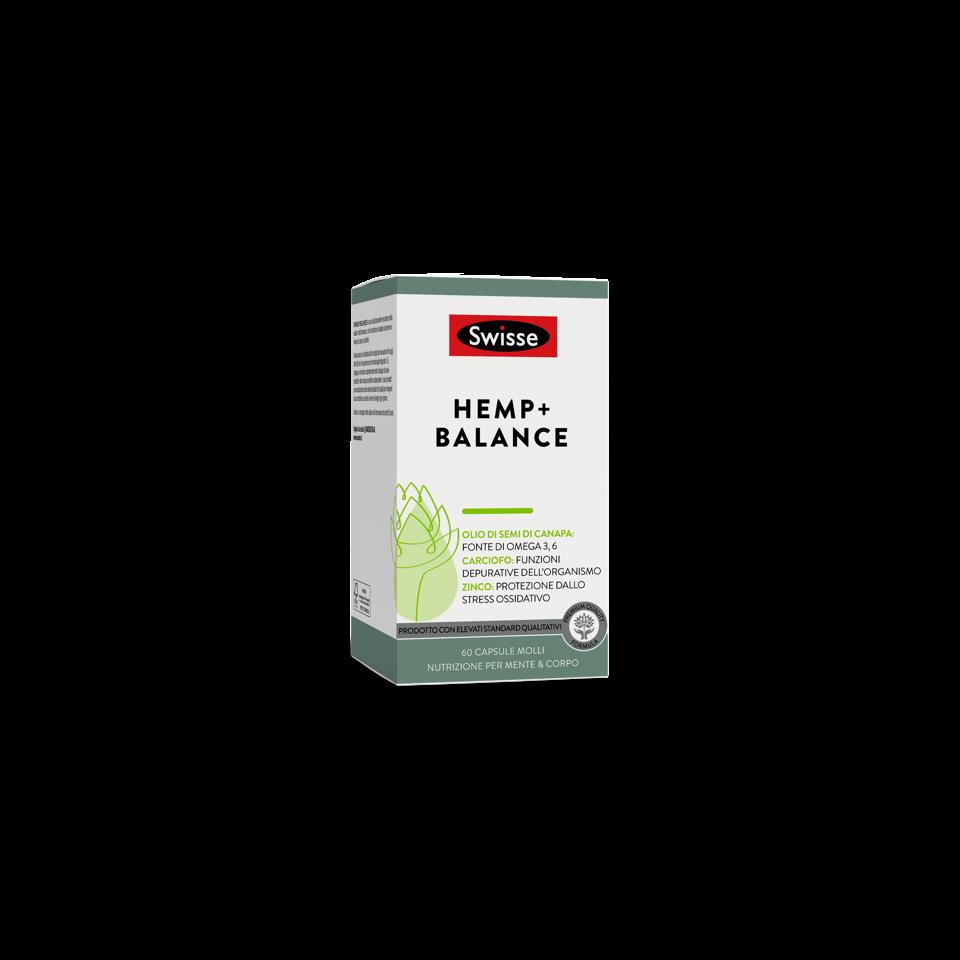 Integratore Swisse di acidi grassi, vitamine e minerali a base di semi di canapa