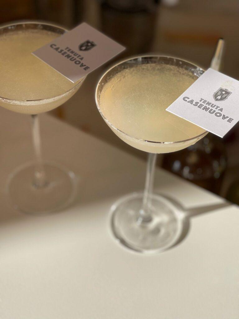 Il cocktail di benvenuto nella Tenuta Panzano in Chianti