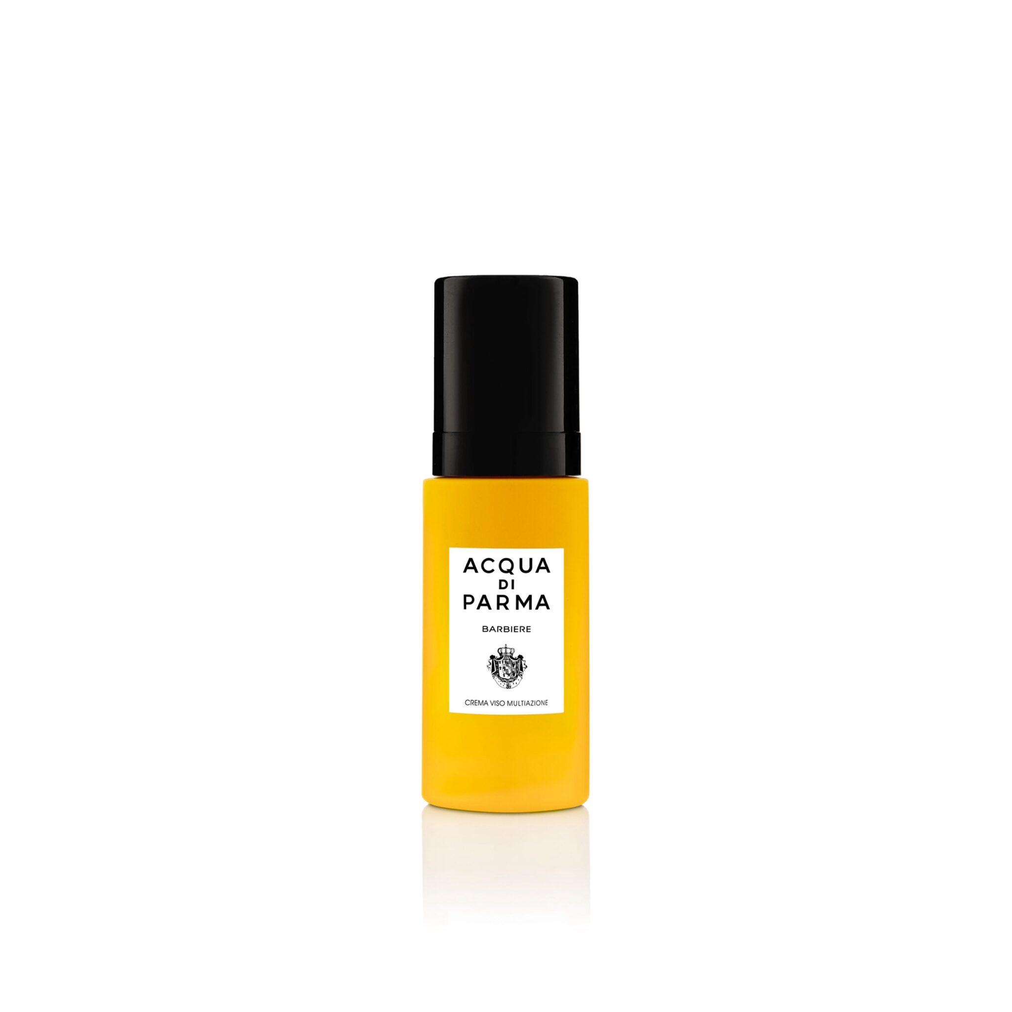 La crema viso Acqua di Parma è adatta all'idratazione della pelle, ma anche a rendere più morbidi e setosi barba e baffi