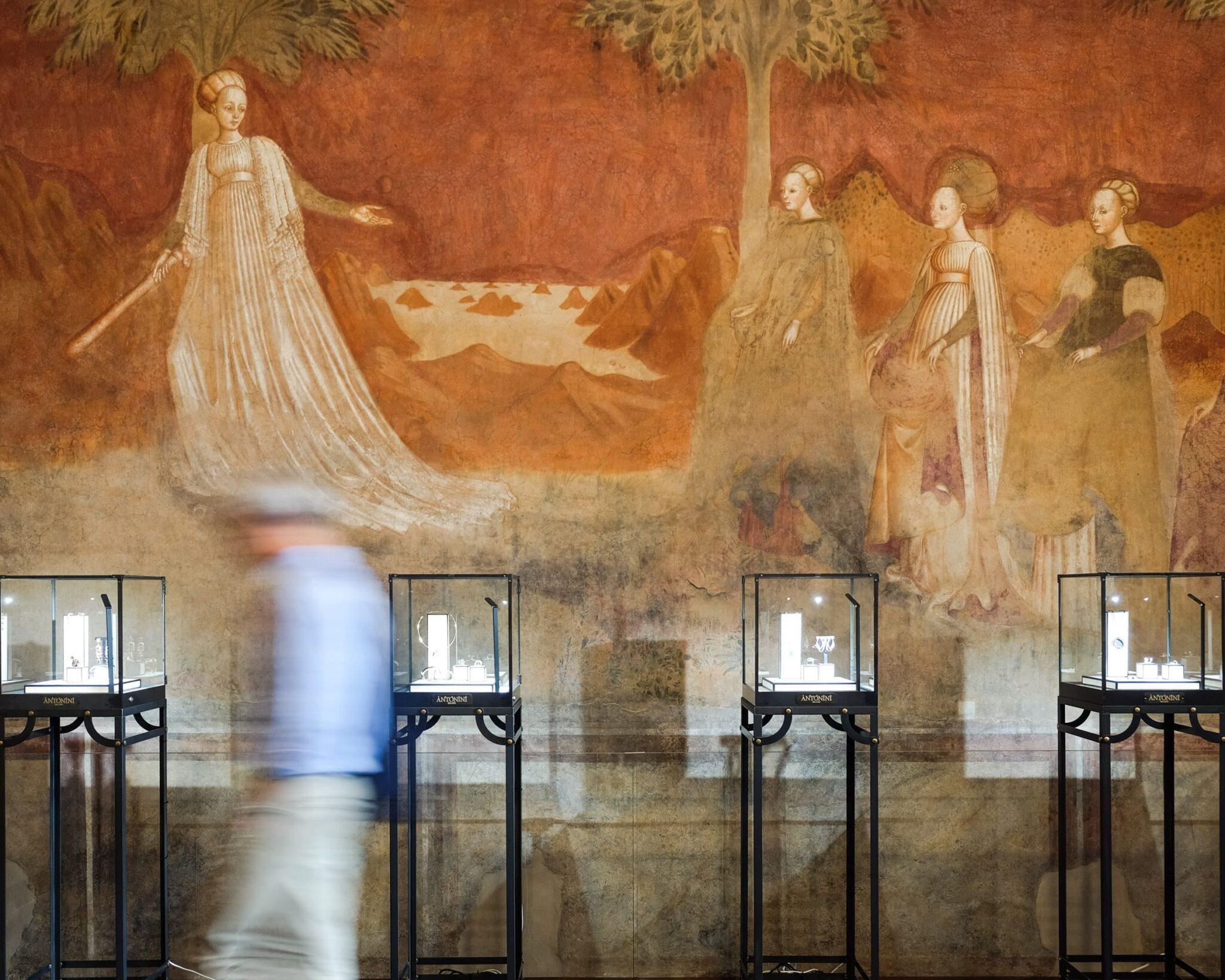 Lo showroom Sergio Antonini gioielli al Palazzo Borromeo di Milano