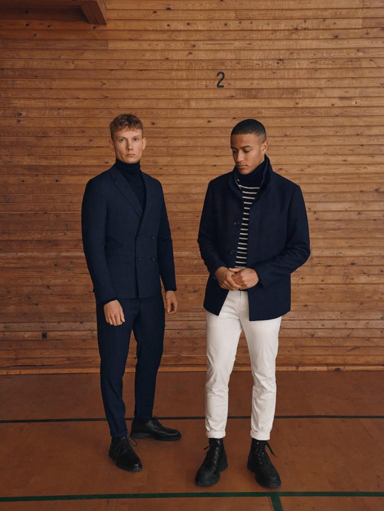 Matinique presenta al CIFF 2021 una collezione moda uomo che abbina blu e tonalità di bianco comoda, alla moda e di alta qualità