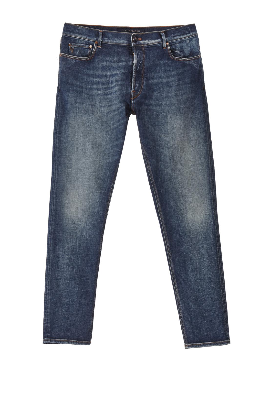 Jeans cinque tasche classico di Handpicked con scoloriture