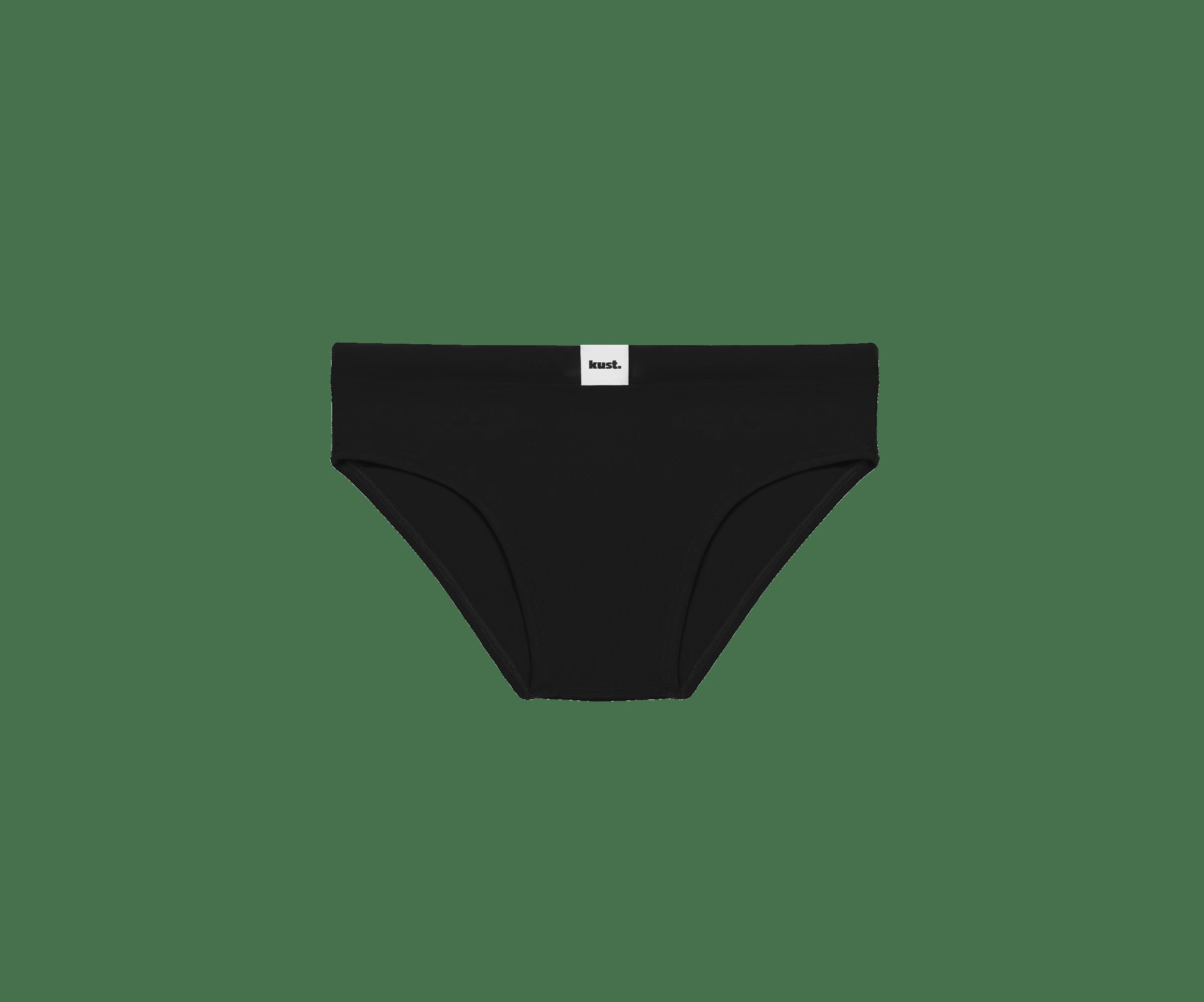 Costume da bagno slip nero Kust Swimwear, ideale per gli sportivi
