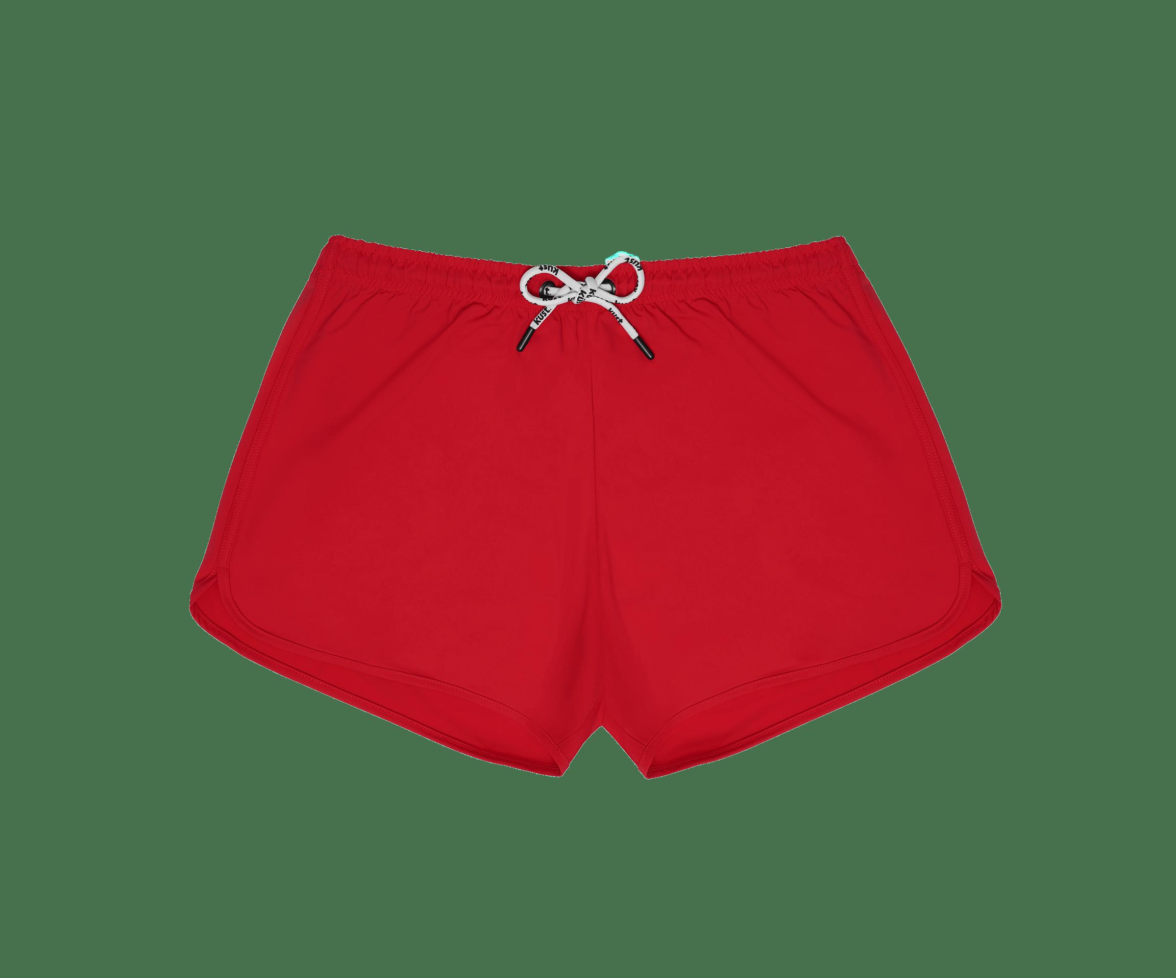 Costume da bagno realizzato a mano modello shorts rosso Kust Swim
