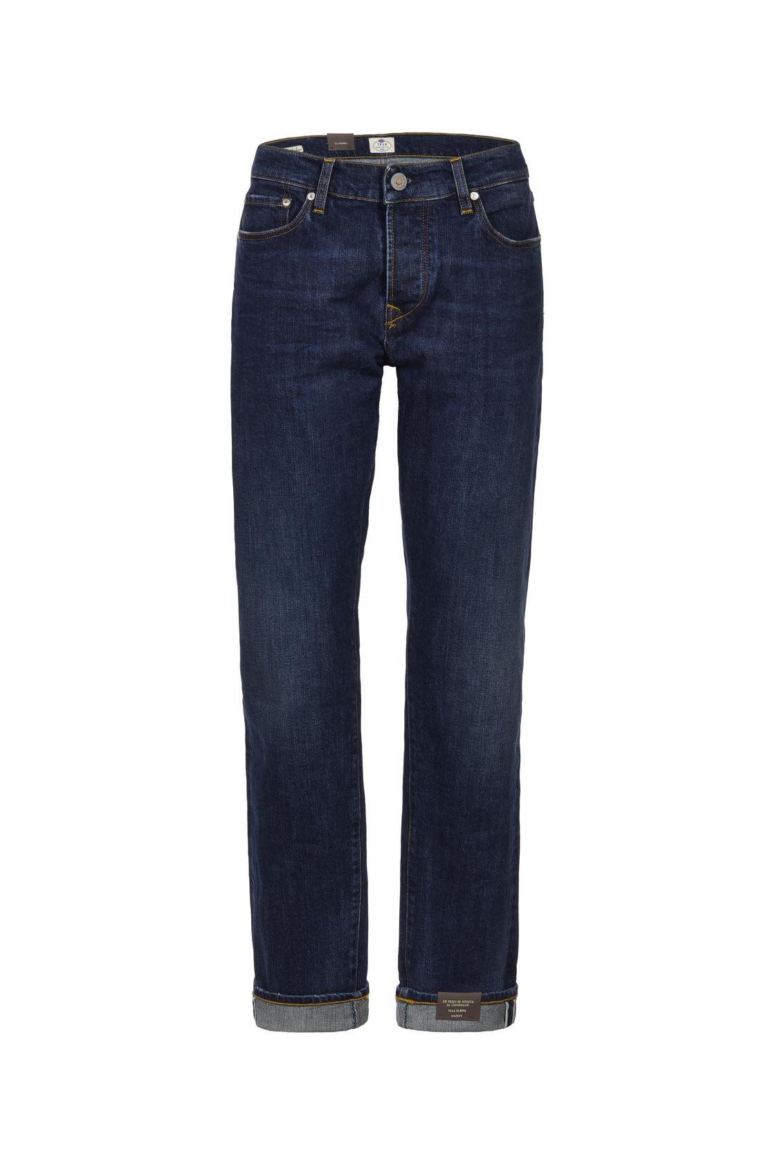 Blue jeans classico con risvolti e gamba dritta di Tela Genova