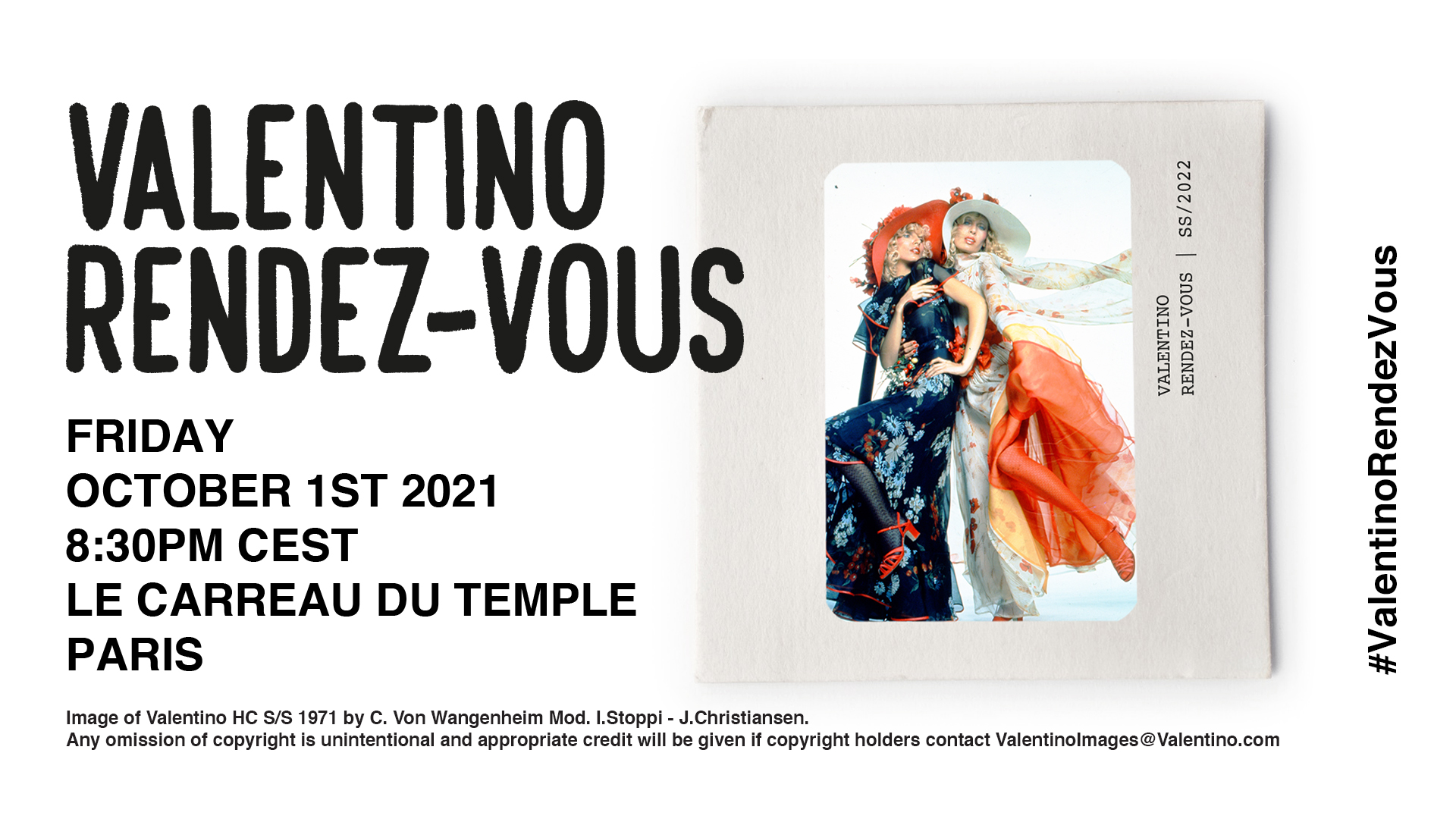 Live streaming: VALENTINO RENDEZ-VOUS SS/22