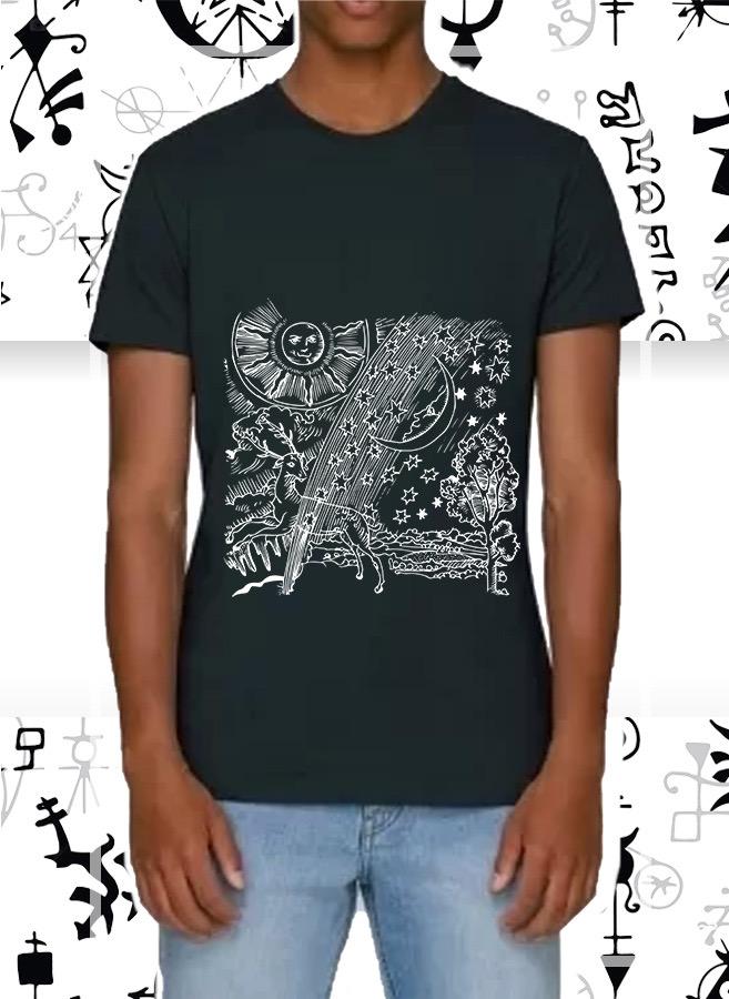 La t-shirt nera Eden by Sabatini realizzata con cotone riciclato